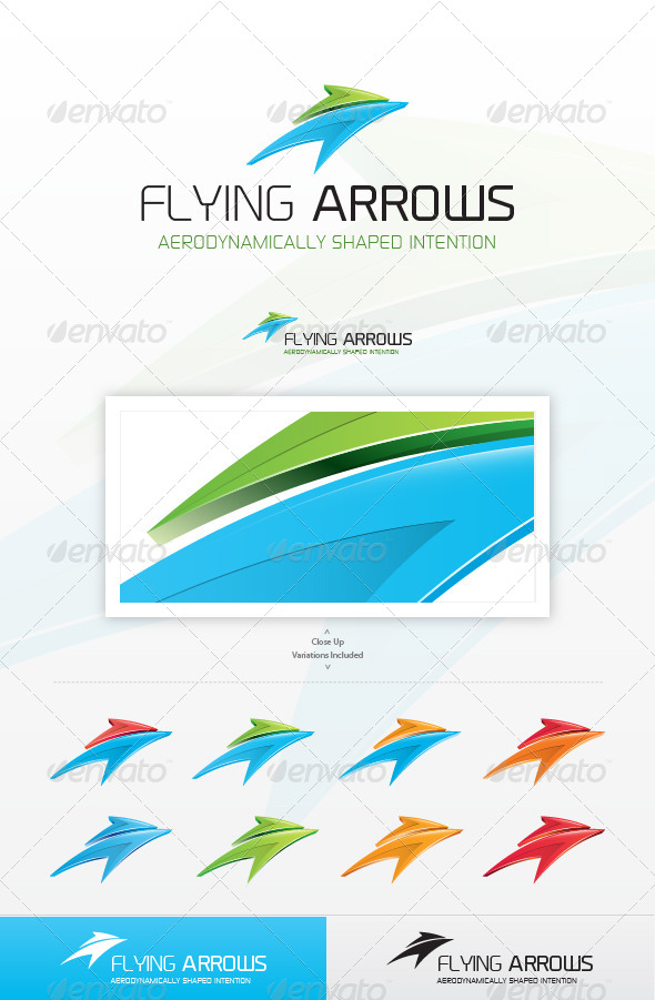 GraphicRiver Flying Arrows Logo 5118140