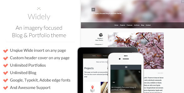 ThemeForest Widely An imagery focused Blog & Portfolio theme 5117126