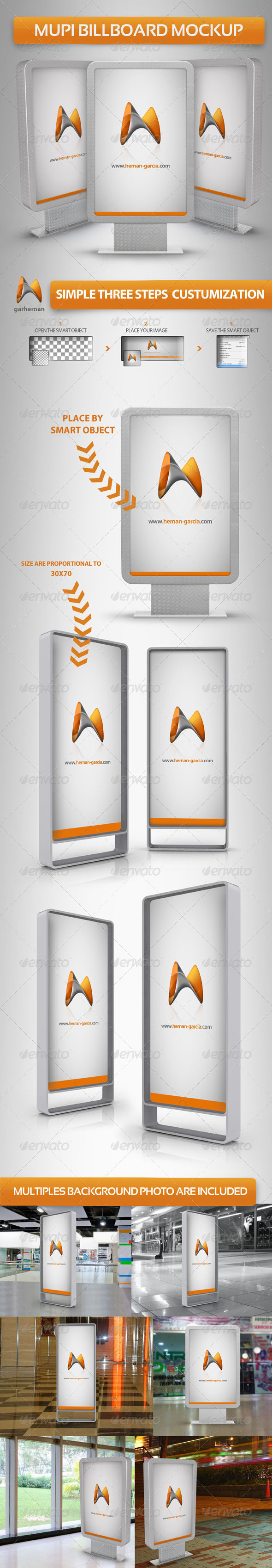 Mupi Billboard Mock-up