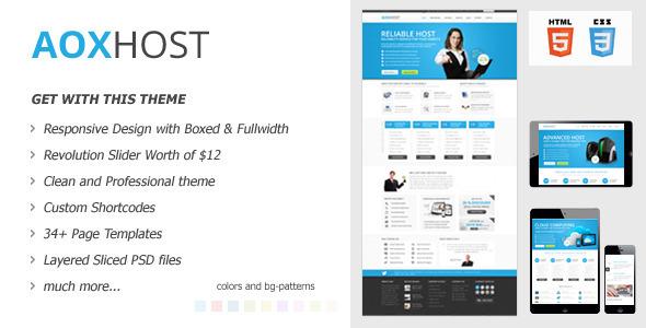 ThemeForest AOX HOST Responsive Hosting Theme 5100917
