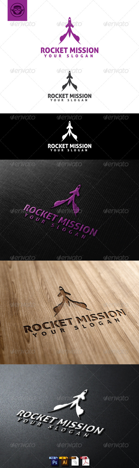 GraphicRiver Rocket Mission Logo Template 5119564