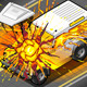 Isometric White Cross Country Vehicle in Explosion - GraphicRiver Item for Sale