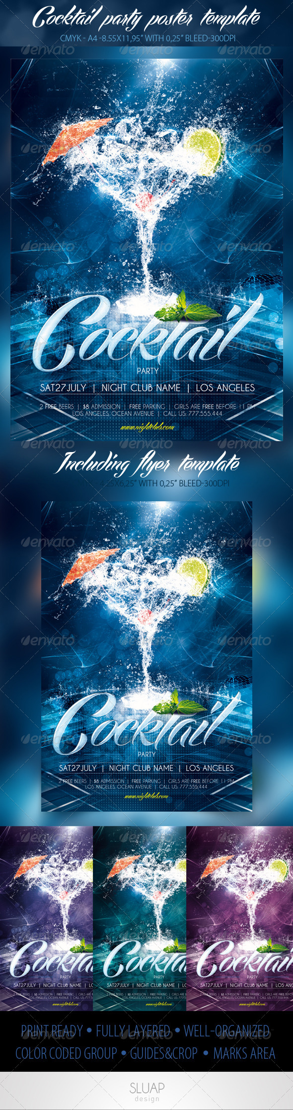 Cocktail Party Poster & Flyer Template - Events Flyers