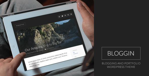 ThemeForest Bloggin Blogging and Portfolio WordPress Theme 5117260