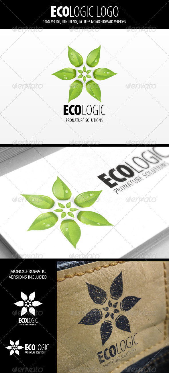 GraphicRiver Eco Logic Logo Template 5107324