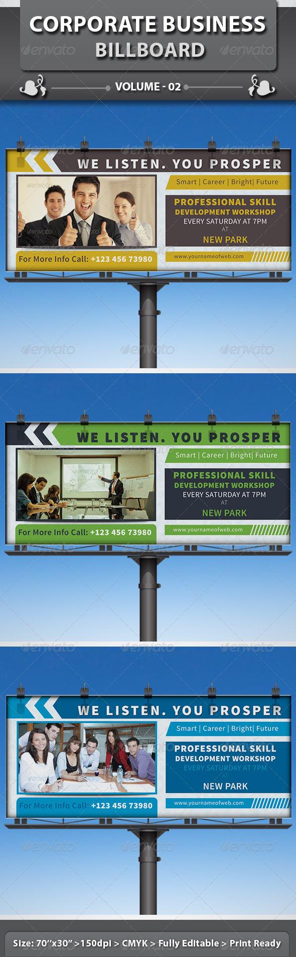 Corporate Business Billboard | Volume 2 - Signage Print Templates