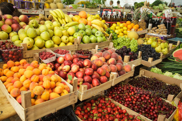 Fruits on the market - Stock Photo - Images