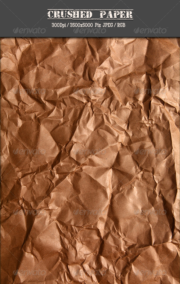 Crushed Brown Paper IV - Paper Textures