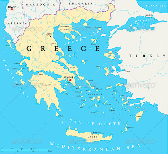 GraphicRiver Greece Political Map 5121924