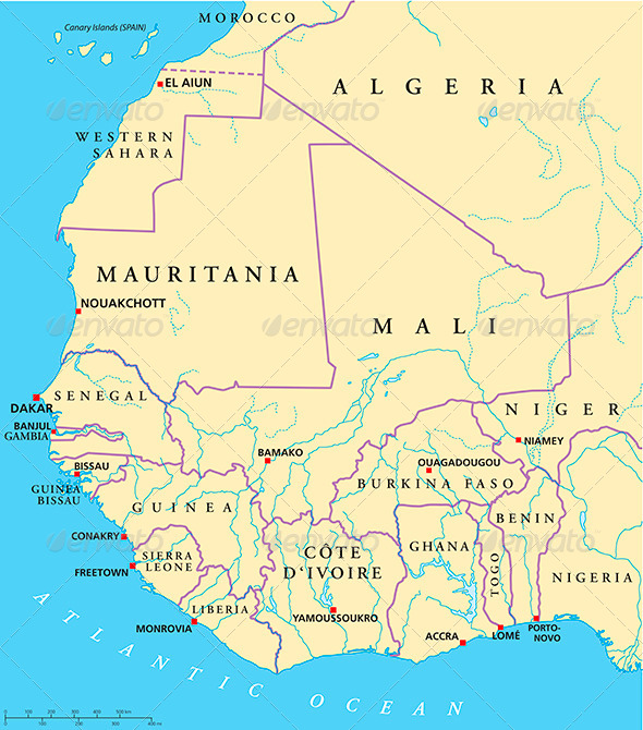 GraphicRiver West Africa Map 5121992
