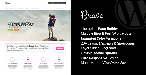 ThemeForest Brave Clean Responsive Multipurpose Theme 5119897