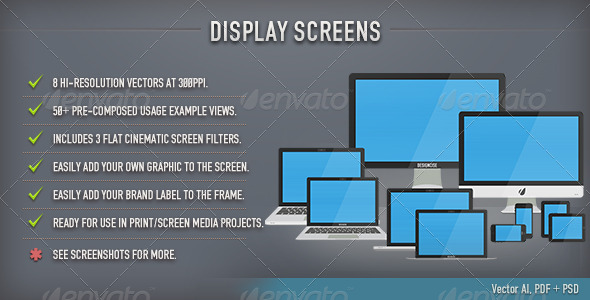 GraphicRiver Display Screens Flat 5111915