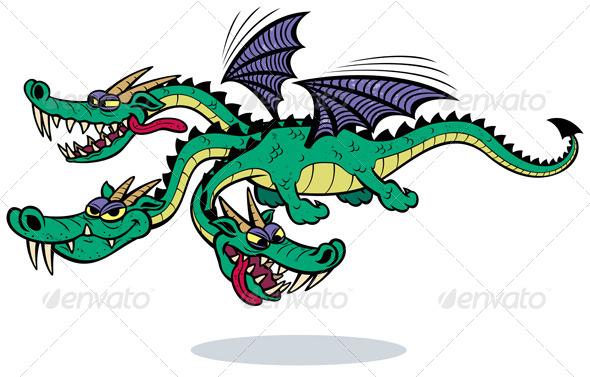 GraphicRiver Cartoon Dragon 5122980