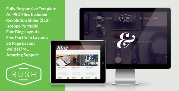 Rush - Multipurpose Creative Responsive Website - Creative Site Templates