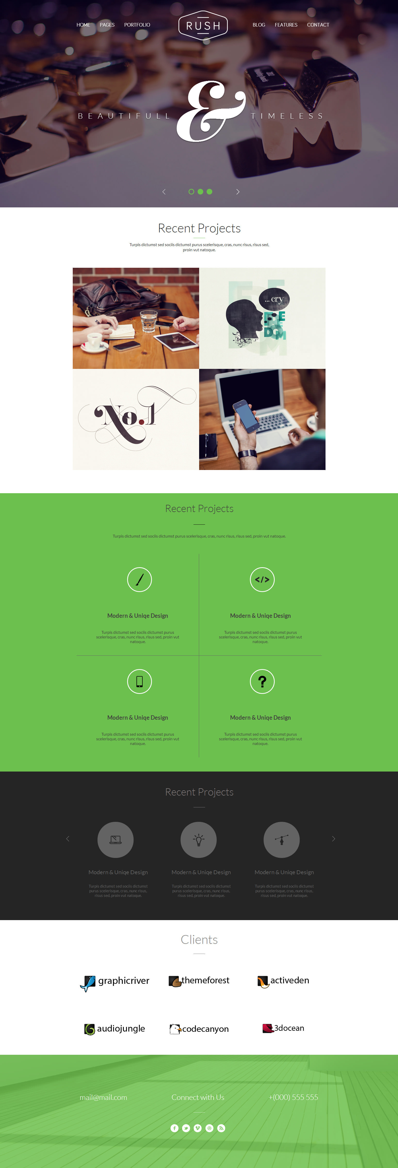 Rush - Multipurpose Creative Responsive Website