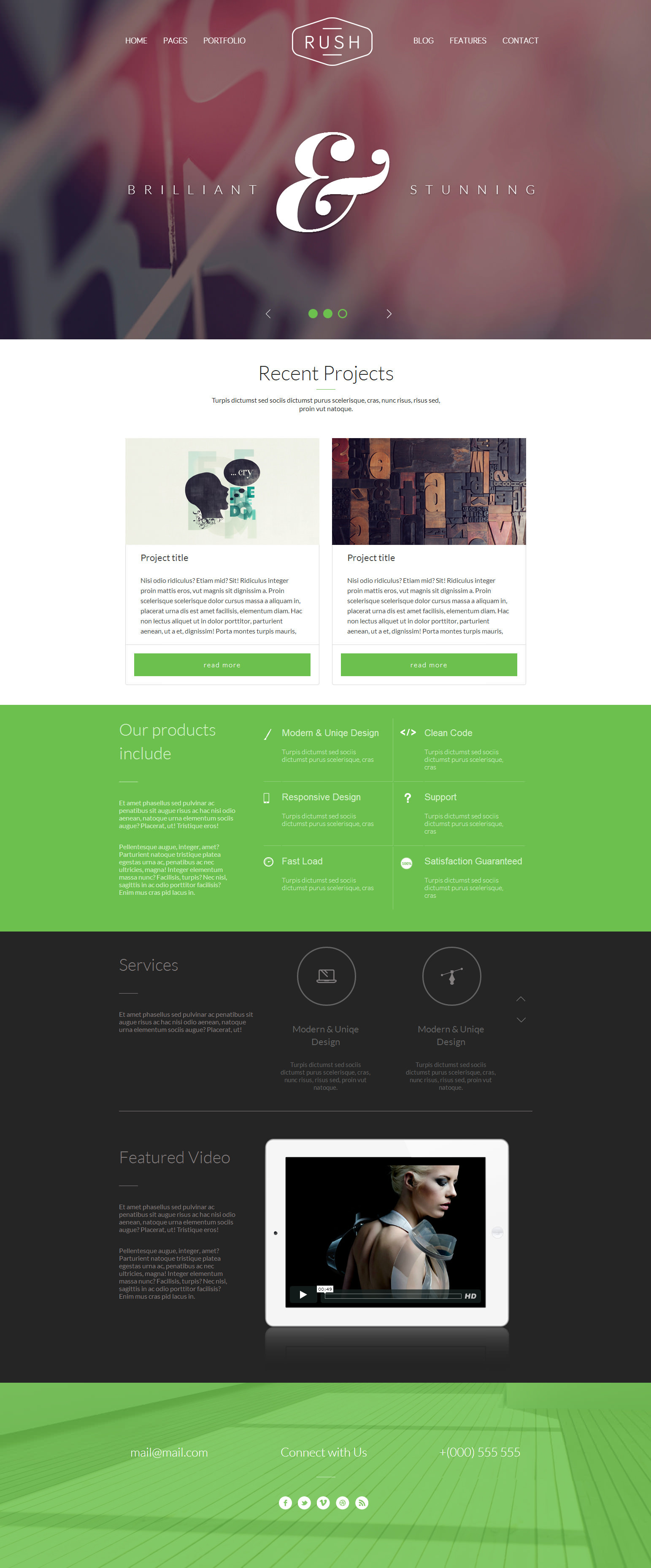 Rush - Multipurpose Creative Responsive Website