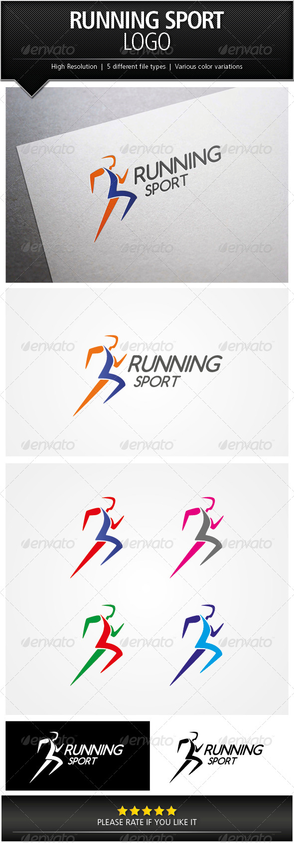 GraphicRiver Running Sport Logo Template 5067256