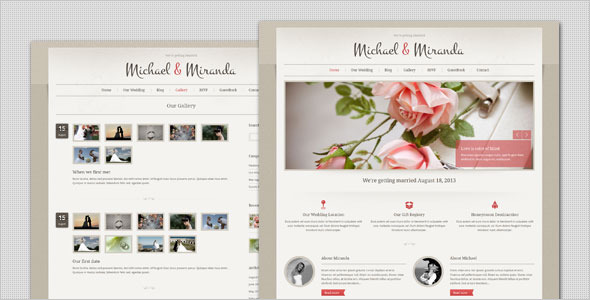Wedding - Classic and Elegant HTML Template