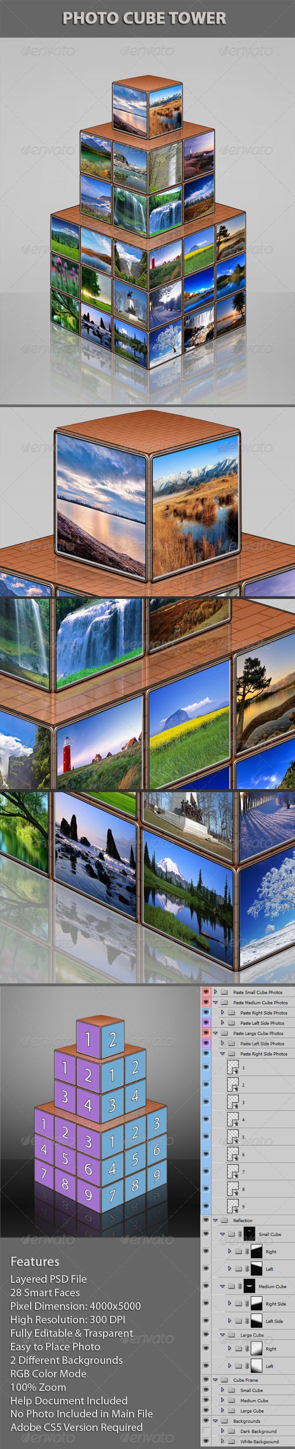 GraphicRiver Photo Cube Tower 5116546