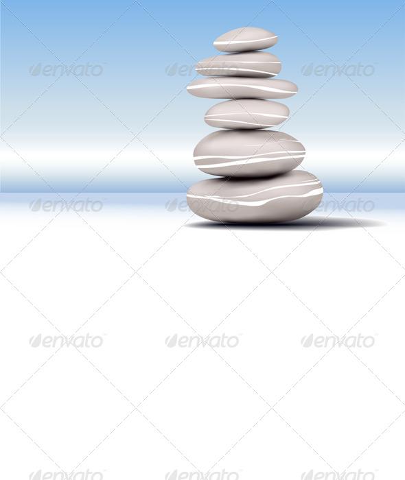 GraphicRiver Zen Stones Stability 5123609