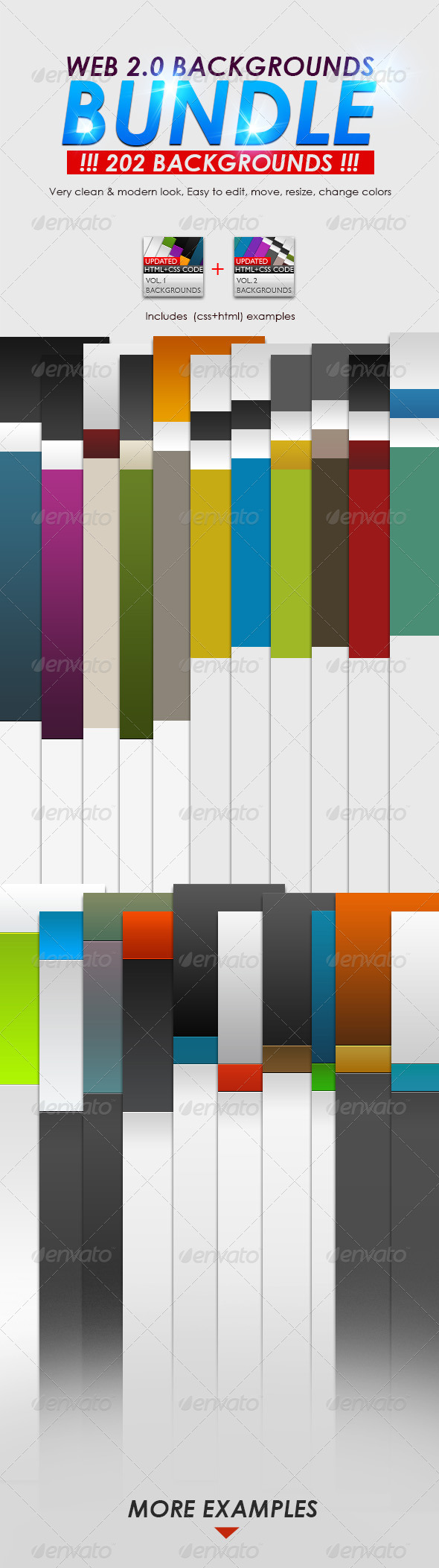 Web 2.0 Backgrounds Bundle - Backgrounds Graphics
