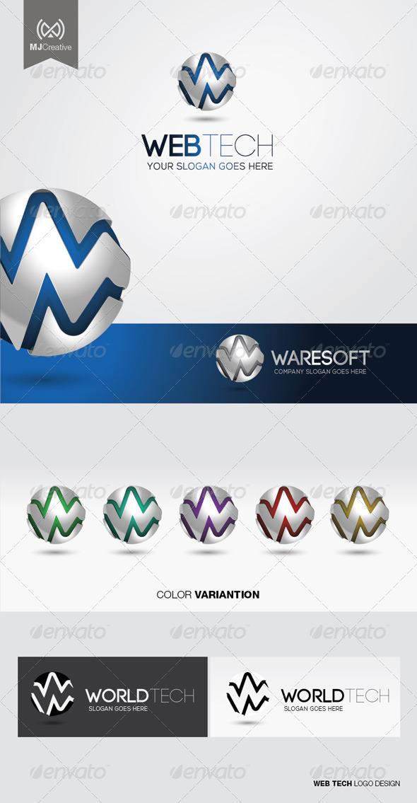 GraphicRiver Web Tech Logo 5107391