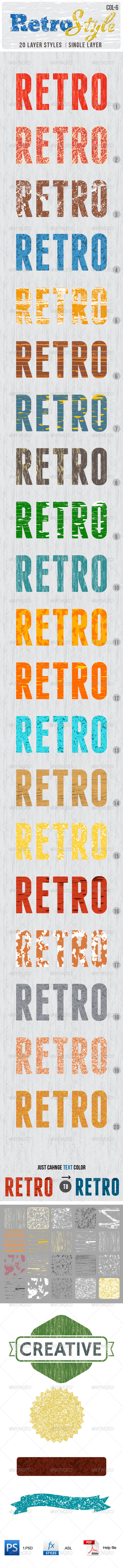 GraphicRiver Retro Layer Styles 5123870