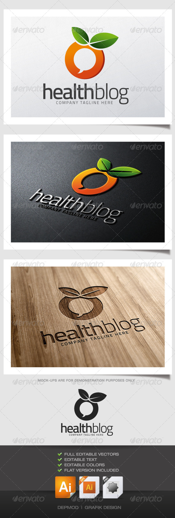 GraphicRiver Health Blog Logo 5123906