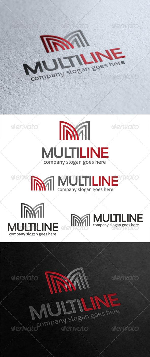 GraphicRiver Multi Line Letter M Logo 5124084