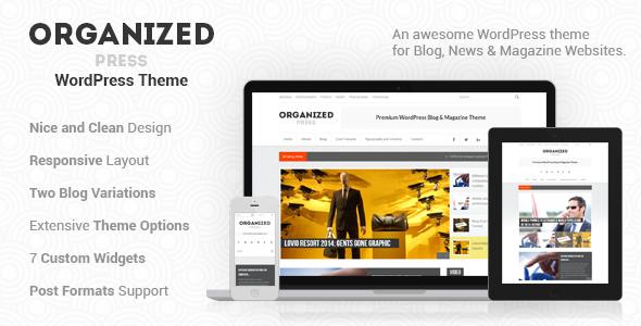 ThemeForest Organized Press WordPress Blog & Magazine Theme 5117572