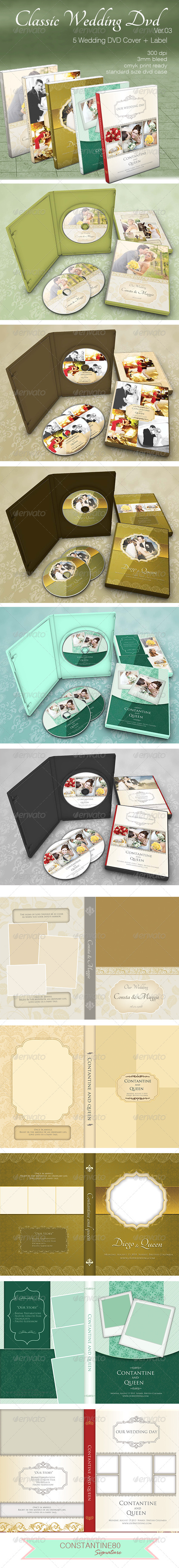 Classic Wedding Dvd ver03 - CD & DVD Artwork Print Templates