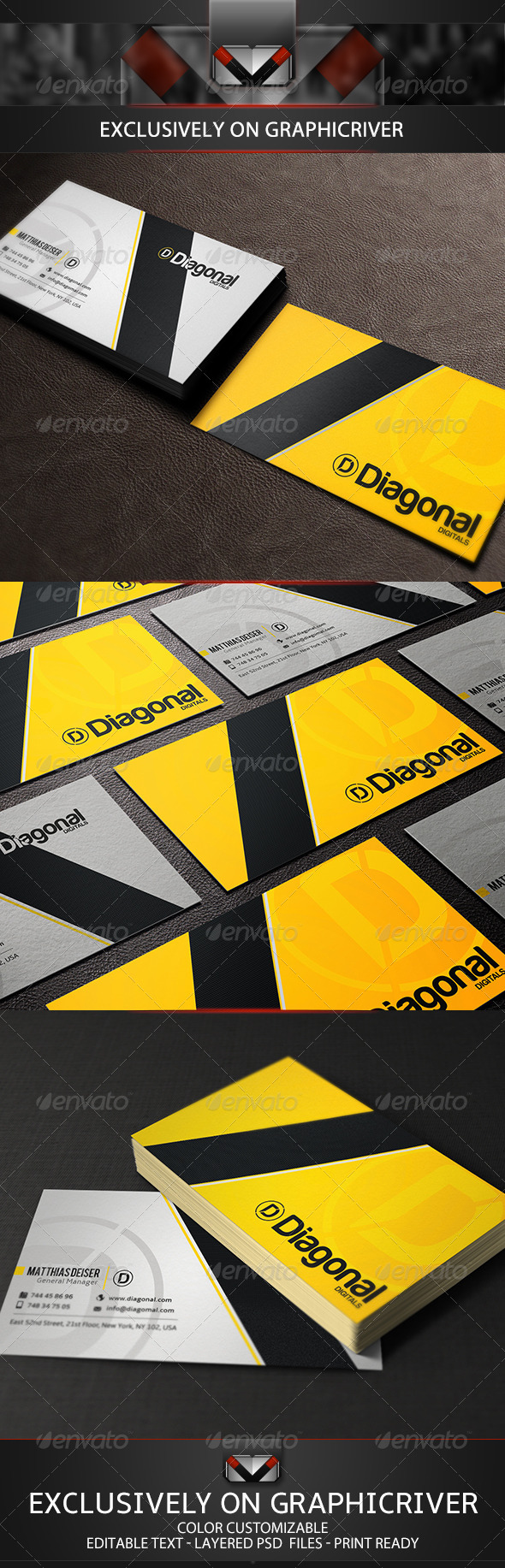 GraphicRiver Yellow Business Card 5124897