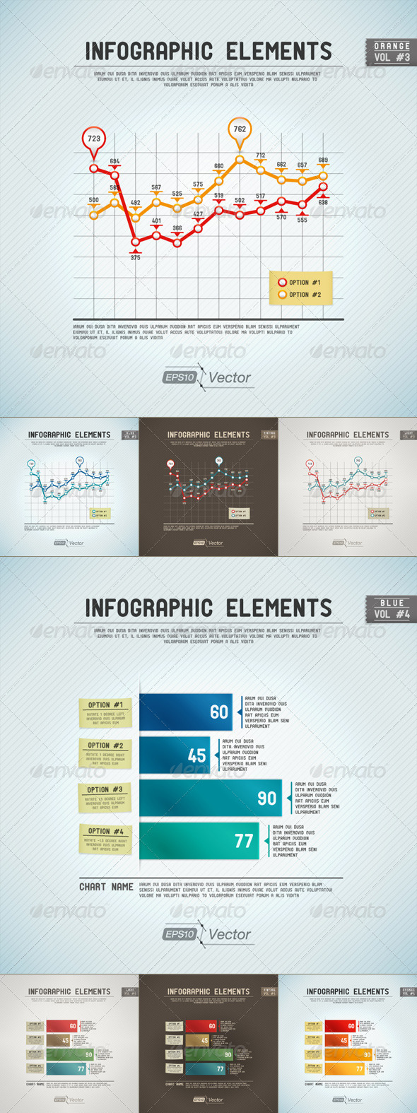 GraphicRiver Infographic Elements Line Graph And Bar Graph 5125406