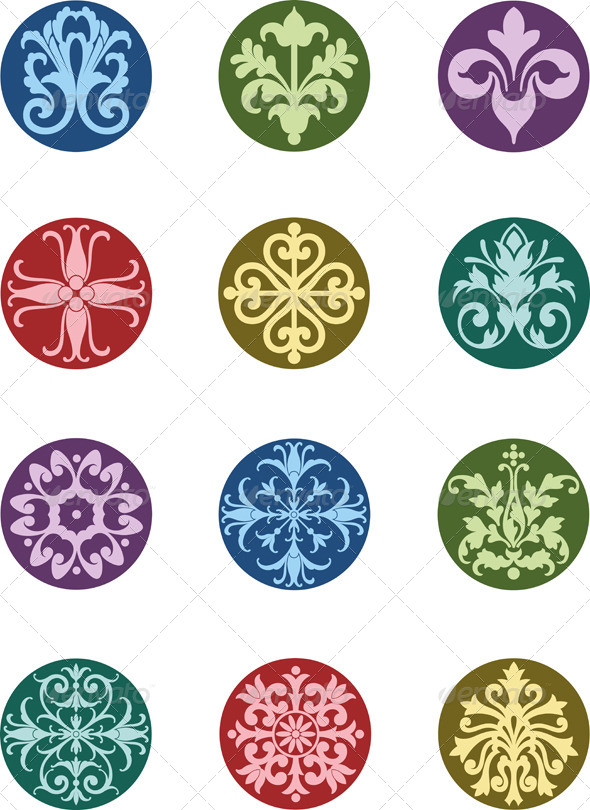 GraphicRiver Round Floral Ornaments 5125473