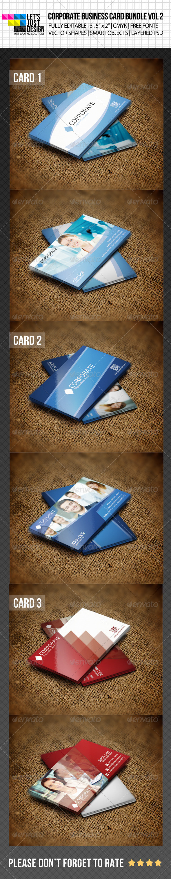 GraphicRiver 3 IN 1 Corporate Business Card Bundle Vol 2 5125601