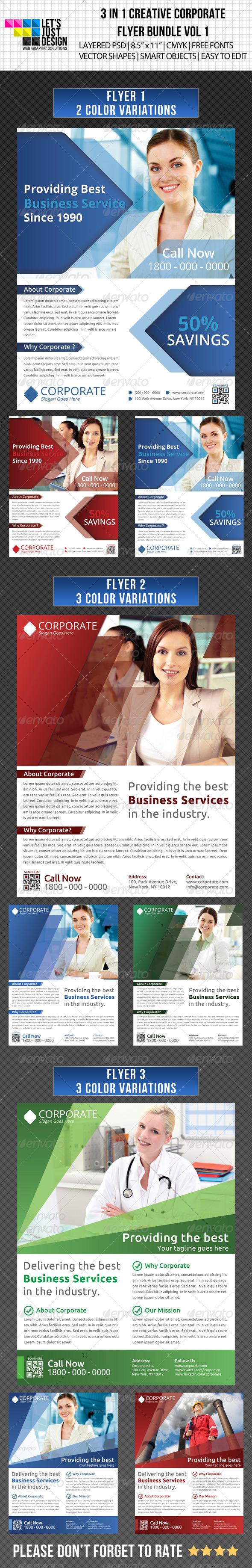 Creative Corporate Flyer Bundle Vol 1 - Corporate Flyers