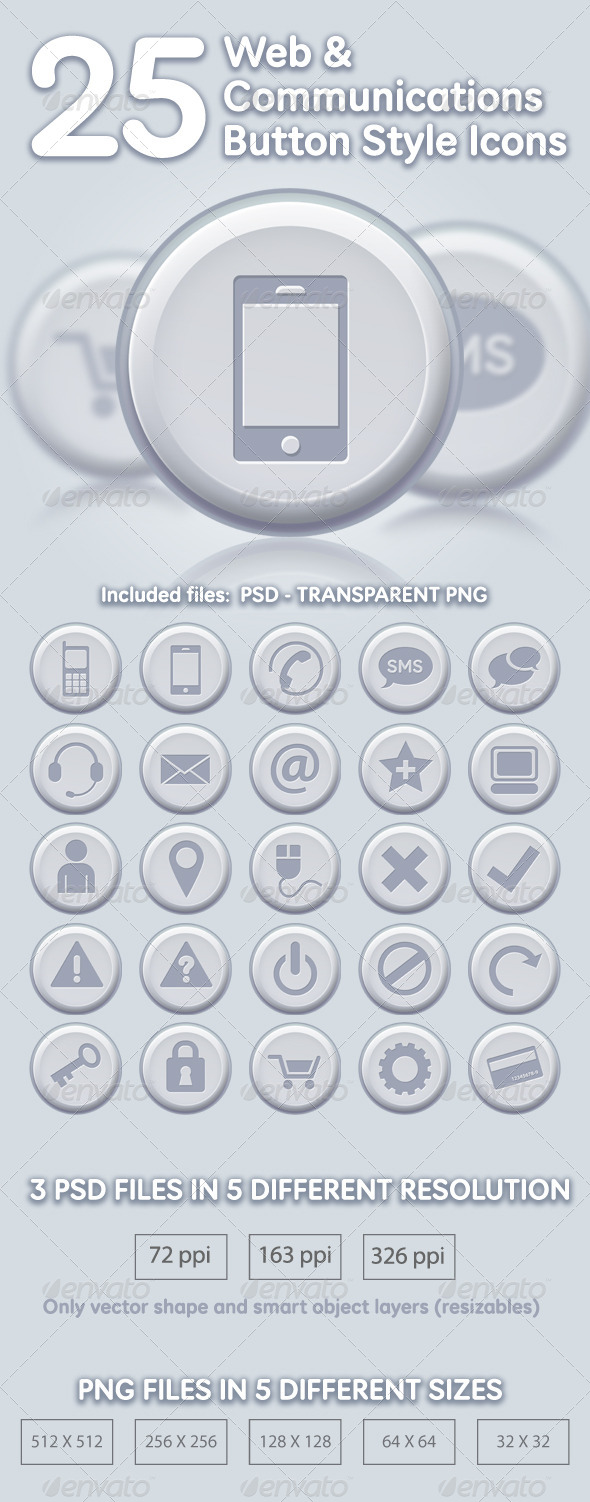 GraphicRiver 25 Web & Communications Icons 5125860
