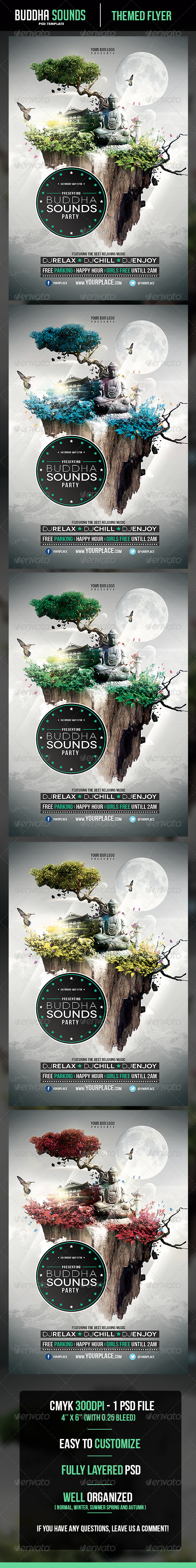 GraphicRiver Buddha Sounds Flyer Template 5069142