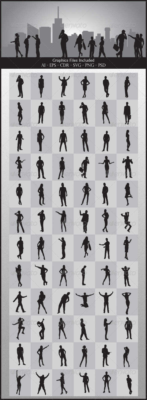 GraphicRiver People Silhouettes 5126065