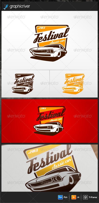 Festival Classic Car Logo Templates