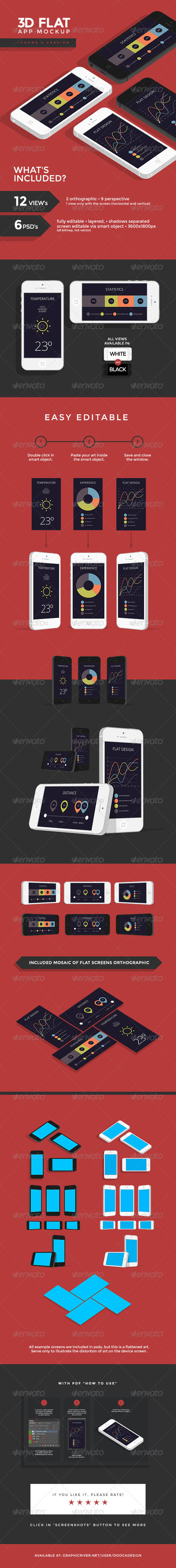 GraphicRiver 3D Flat App Mockup Phone 5102406