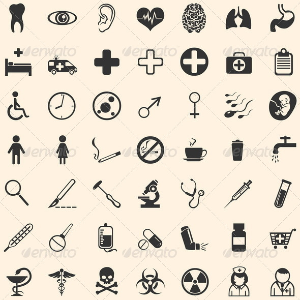 GraphicRiver Vector Set of 49 Medical Icons 5115649