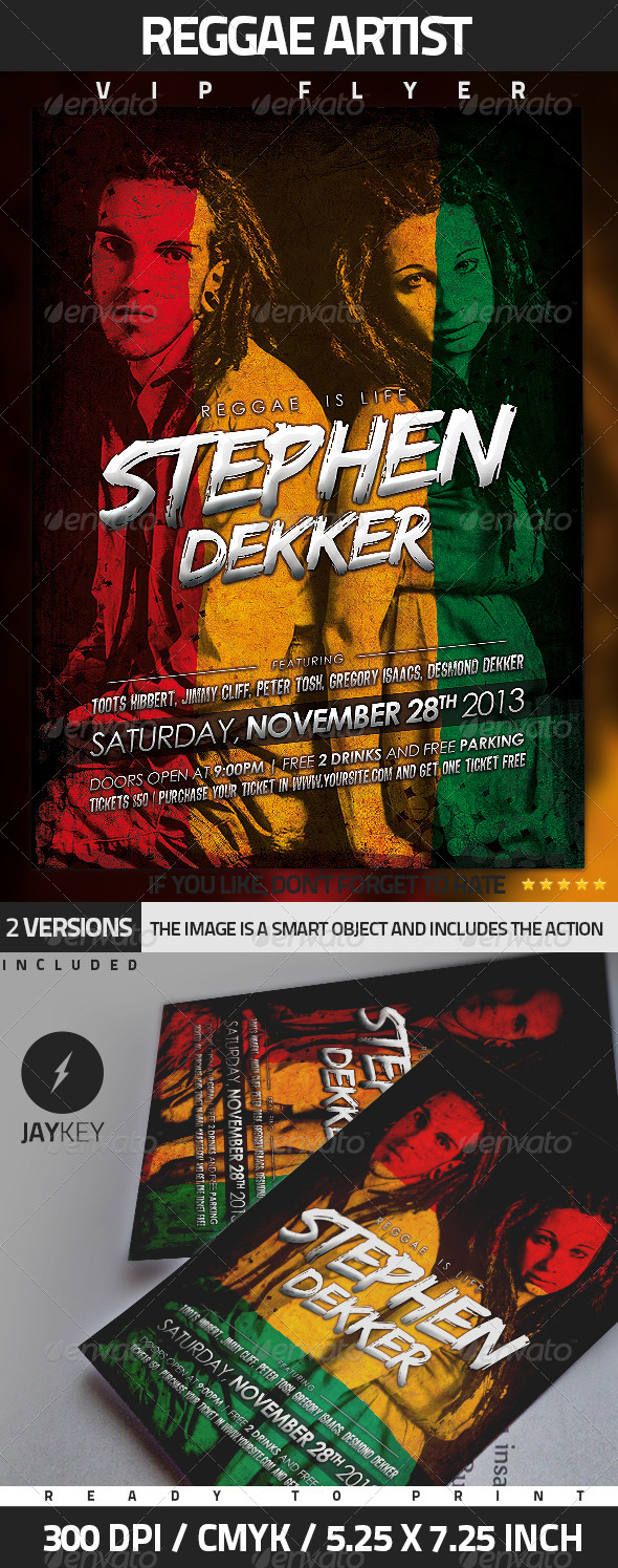GraphicRiver Reggae Artist Flyer 5069245