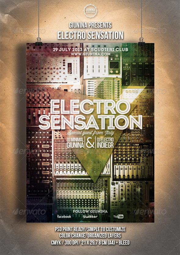 GraphicRiver Electro Sensation Flyer Poster 5126864