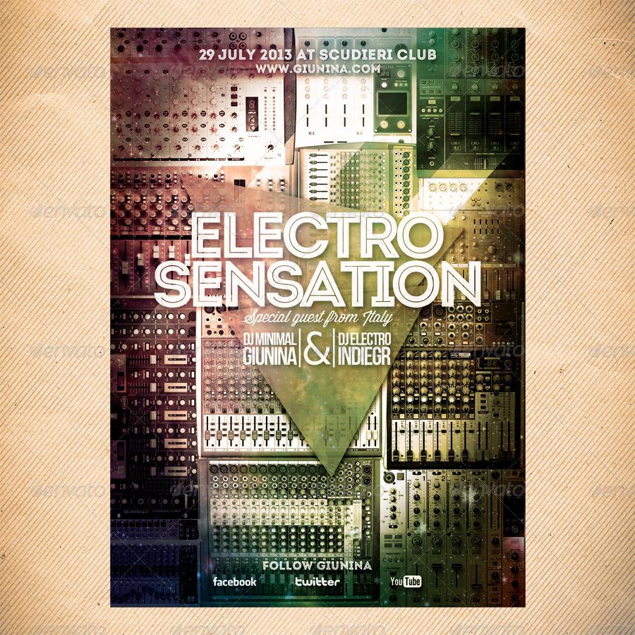 Electro Sensation Flyer/Poster
