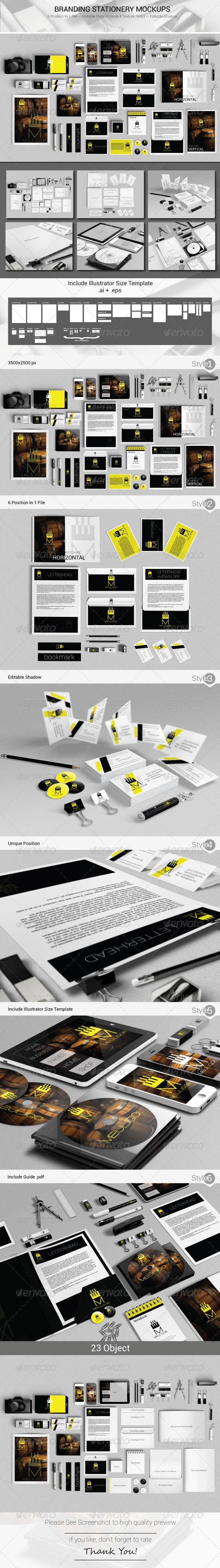 GraphicRiver Branding Stationery Mockups 5127280