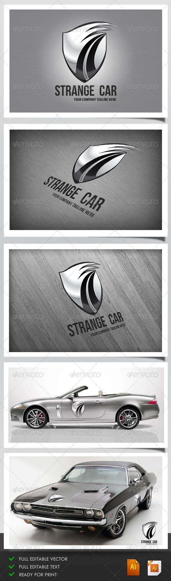 GraphicRiver Strange Car Logo 5117115