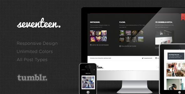 ThemeForest Seventeen Responsive Tumblr Blog Theme 5124655