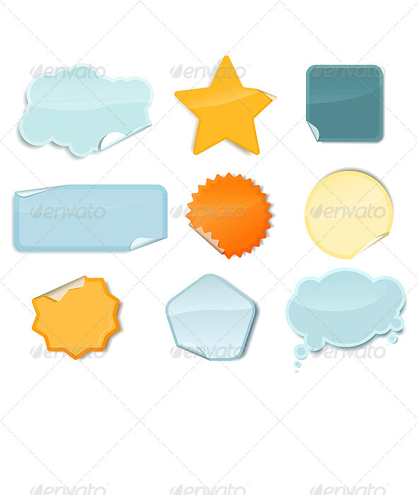 GraphicRiver Set of Colourful Stickers 5127669