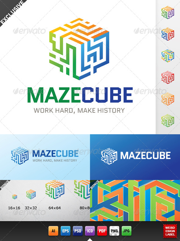 GraphicRiver Maze Cube Logo 5113385